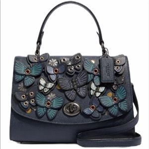 COACH leather butterfly crossbody tilly top handle